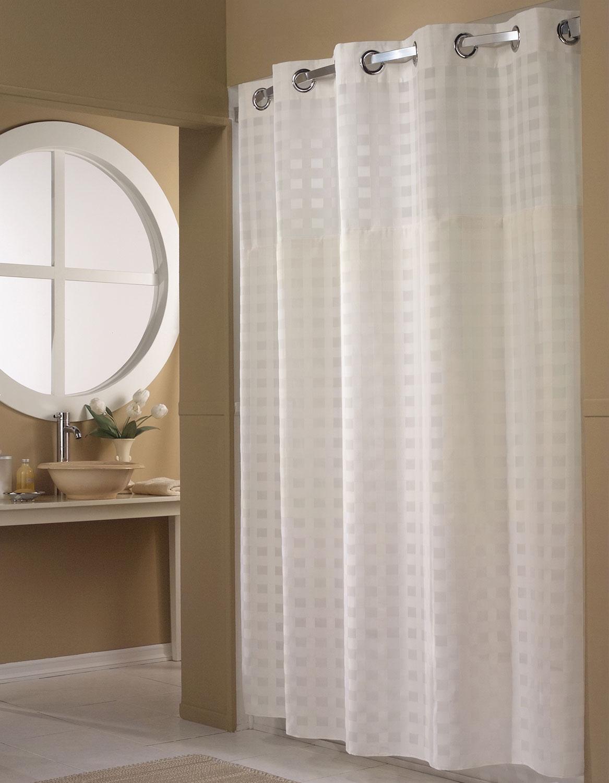 Basketweave Hookless Shower Curtain
